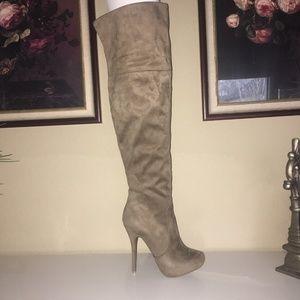Wild Diva Over The Knee suede boot
